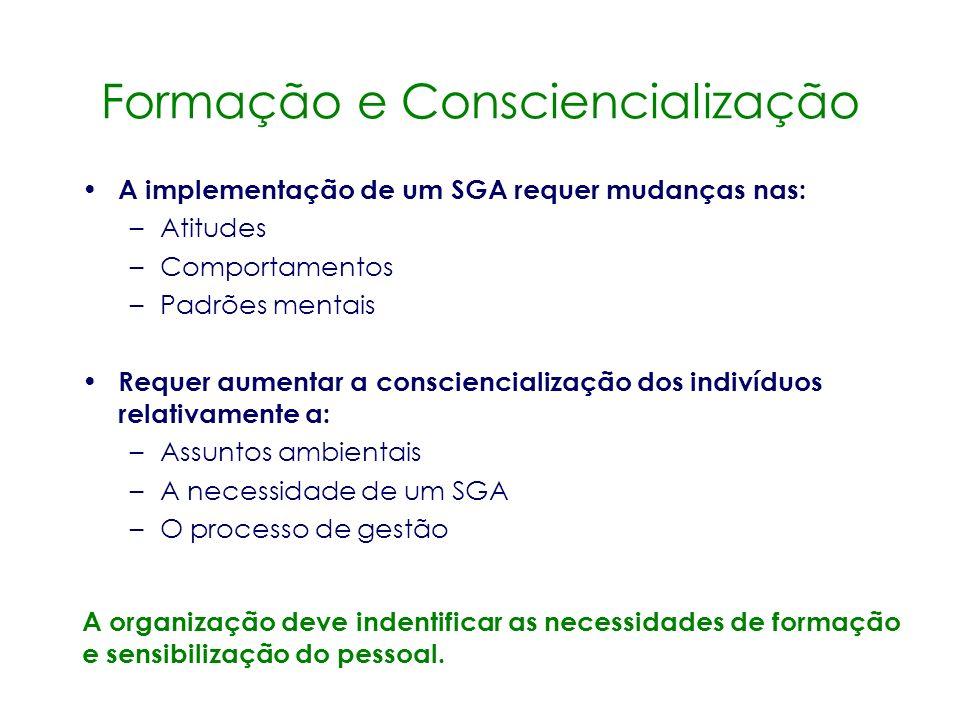Formação e Consciencialização