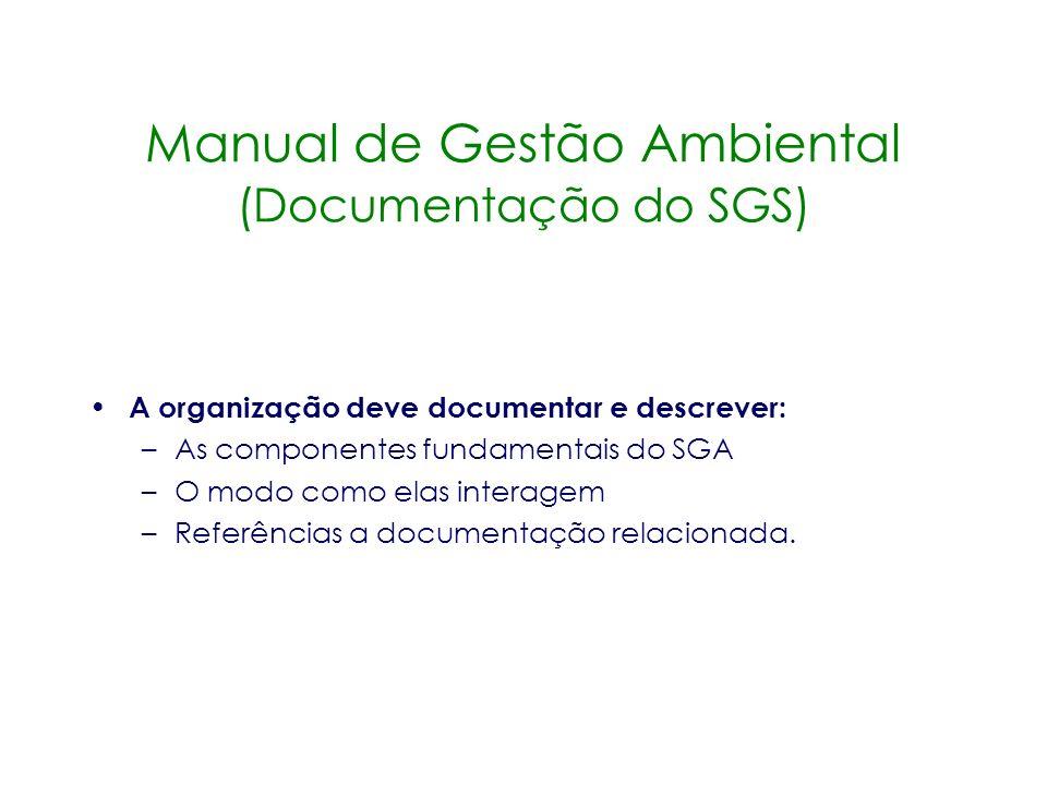Manual de Gestão Ambiental (Documentação do SGS)