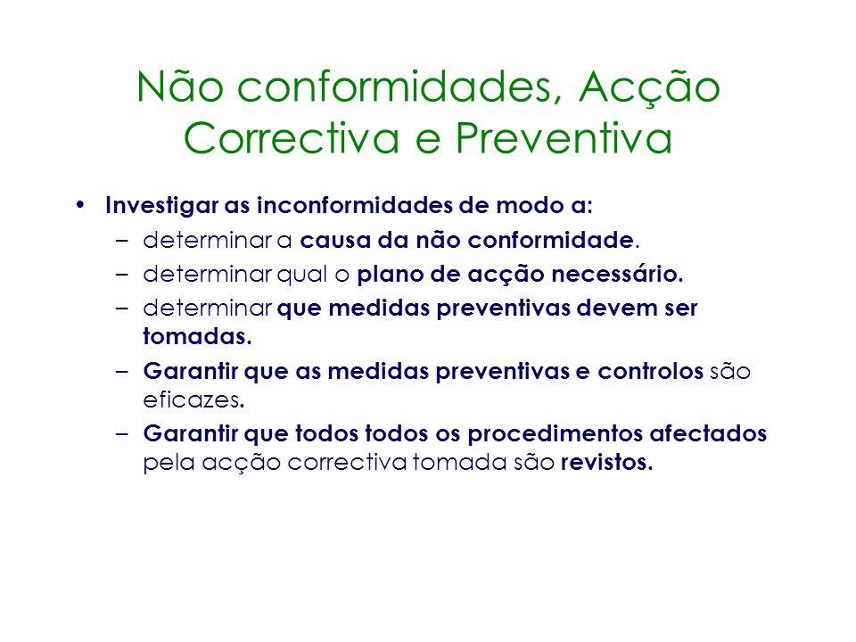 Não conformidades, Acção Correctiva e Preventiva