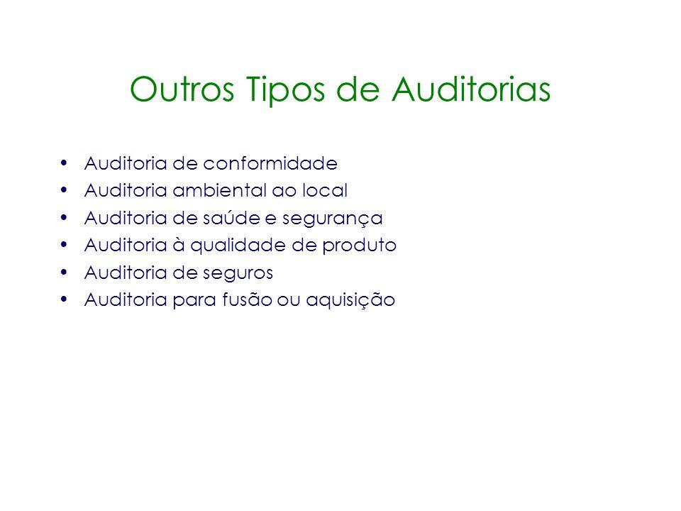 Outros Tipos de Auditorias