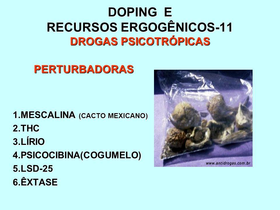 DOPING E RECURSOS ERGOGÊNICOS-11 DROGAS PSICOTRÓPICAS