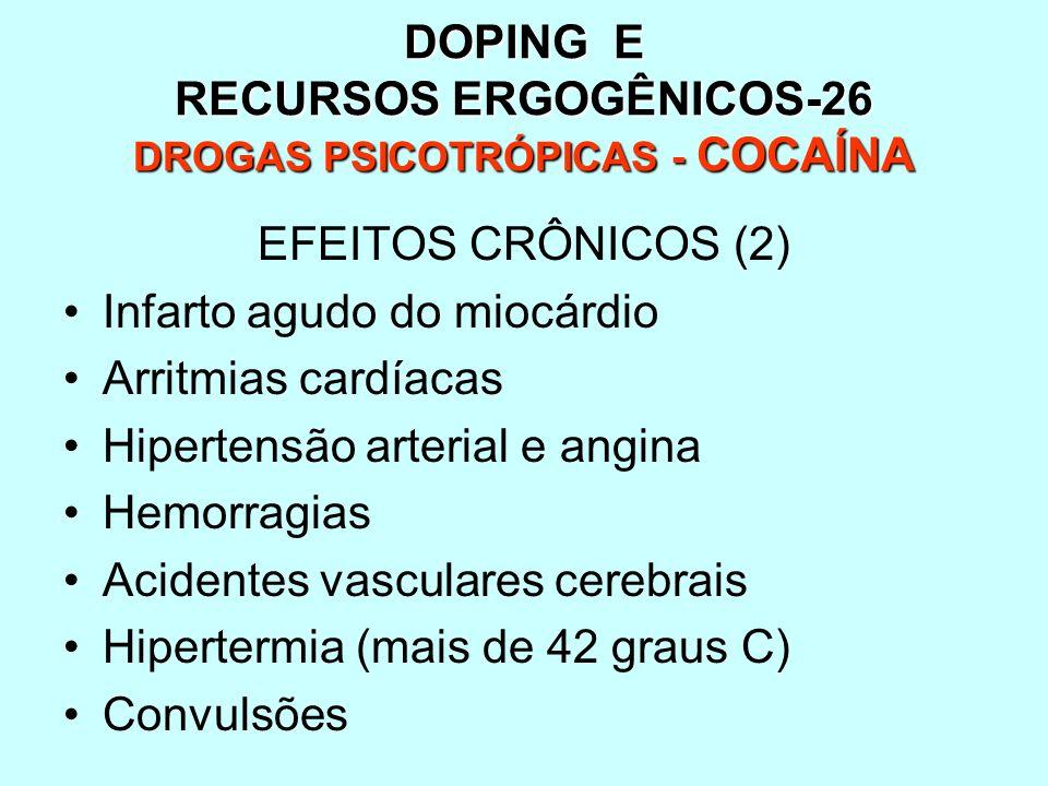 DOPING E RECURSOS ERGOGÊNICOS-26 DROGAS PSICOTRÓPICAS - COCAÍNA