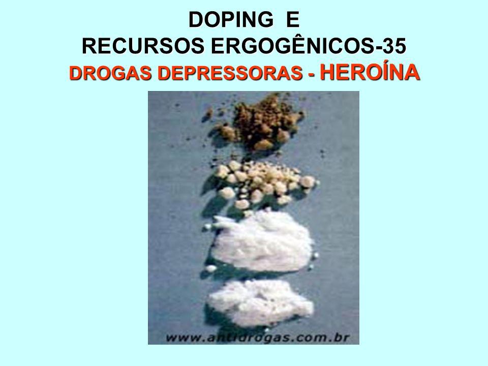 DOPING E RECURSOS ERGOGÊNICOS-35 DROGAS DEPRESSORAS - HEROÍNA