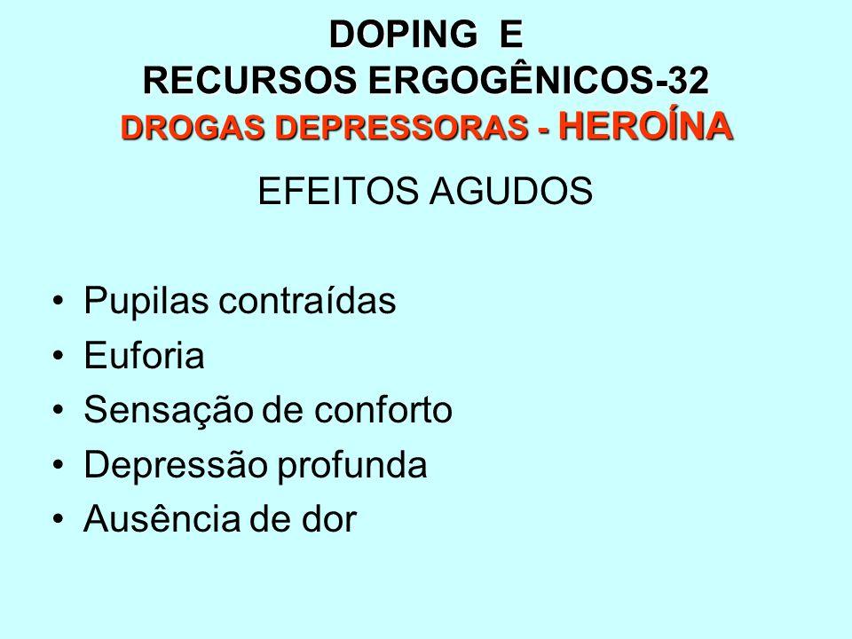 DOPING E RECURSOS ERGOGÊNICOS-32 DROGAS DEPRESSORAS - HEROÍNA
