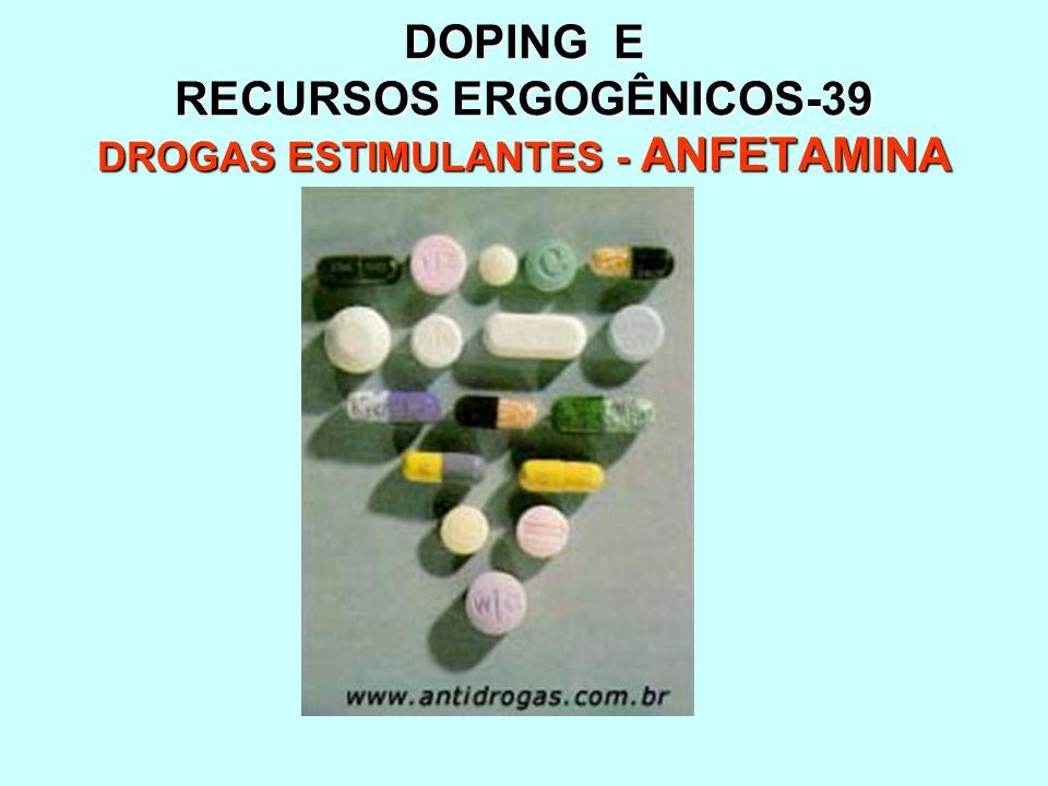 DOPING E RECURSOS ERGOGÊNICOS-39 DROGAS ESTIMULANTES - ANFETAMINA