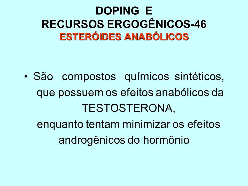 DOPING E RECURSOS ERGOGÊNICOS-46 ESTERÓIDES ANABÓLICOS