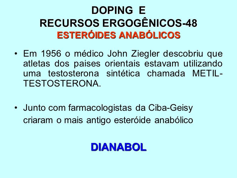 DOPING E RECURSOS ERGOGÊNICOS-48 ESTERÓIDES ANABÓLICOS