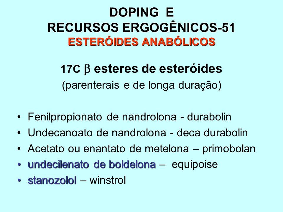 DOPING E RECURSOS ERGOGÊNICOS-51 ESTERÓIDES ANABÓLICOS