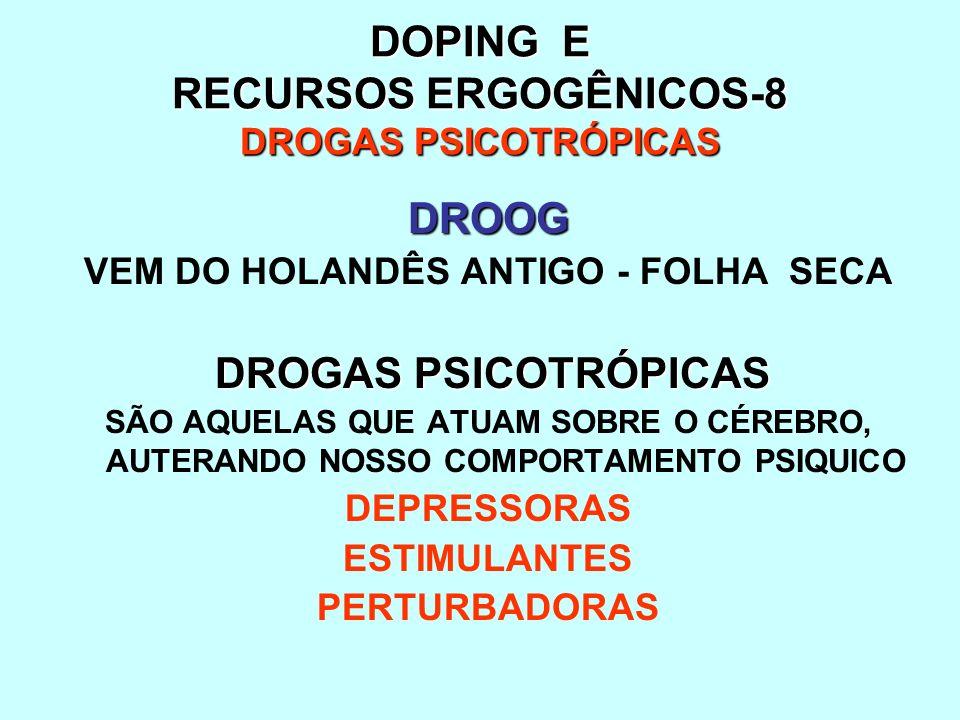 DOPING E RECURSOS ERGOGÊNICOS-8 DROGAS PSICOTRÓPICAS
