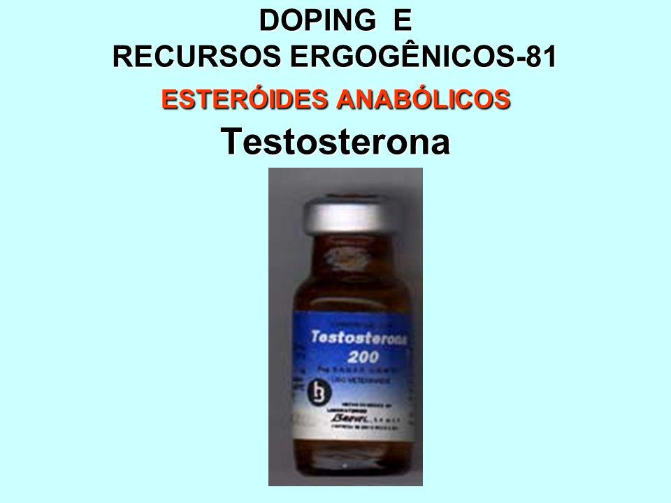 DOPING E RECURSOS ERGOGÊNICOS-81 ESTERÓIDES ANABÓLICOS Testosterona