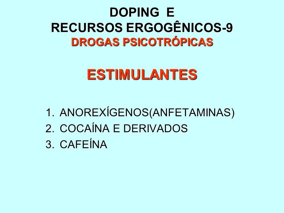DOPING E RECURSOS ERGOGÊNICOS-9 DROGAS PSICOTRÓPICAS