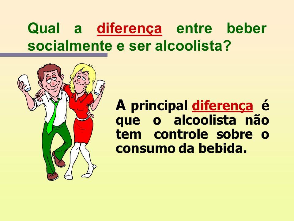 Qual a diferença entre beber socialmente e ser alcoolista