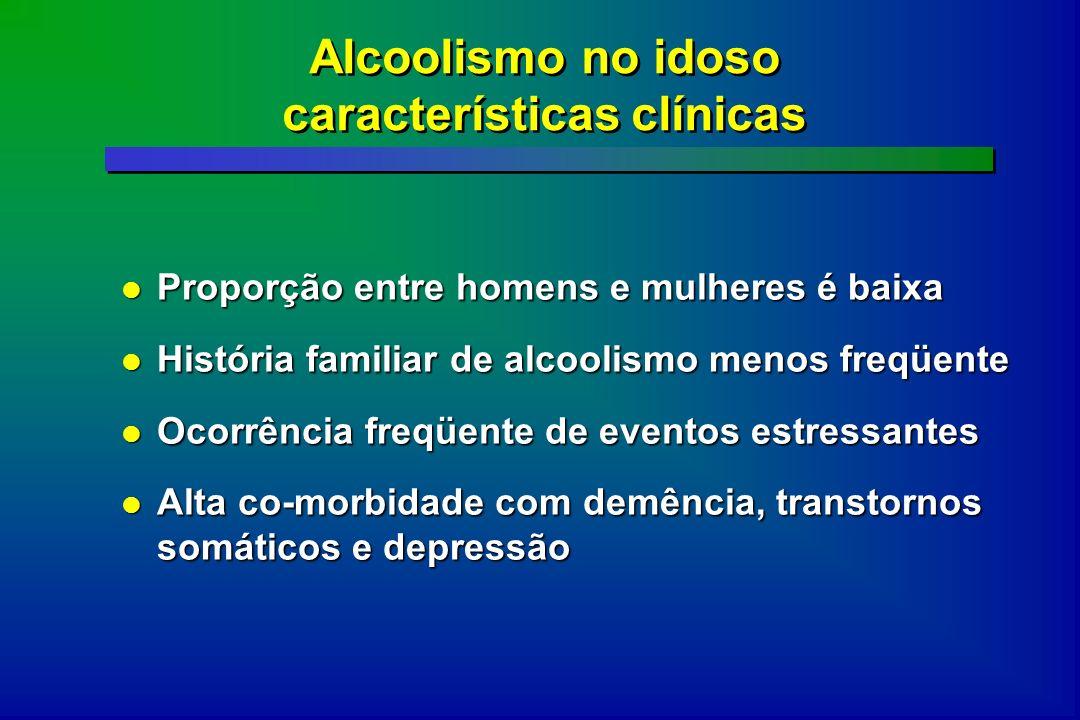 Alcoolismo no idoso características clínicas