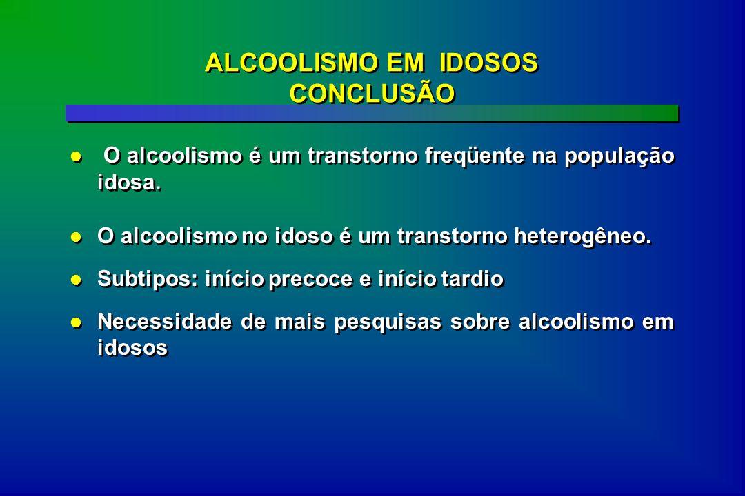 ALCOOLISMO EM IDOSOS CONCLUSÃO