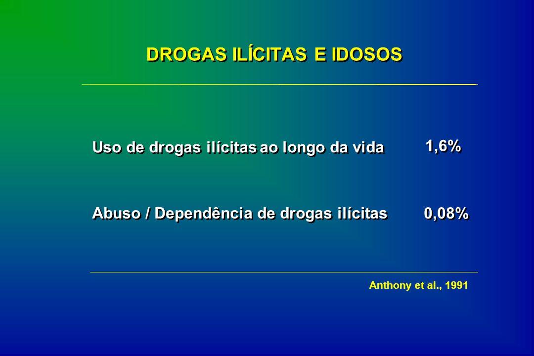 DROGAS ILÍCITAS E IDOSOS