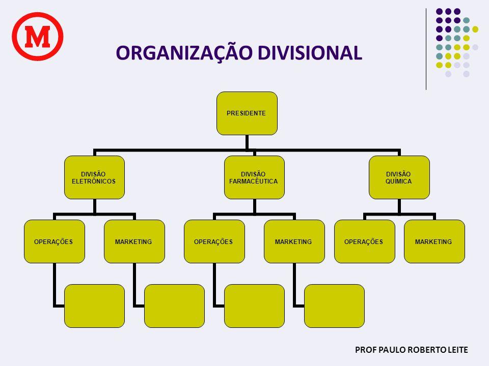 ORGANIZAÇÃO DIVISIONAL