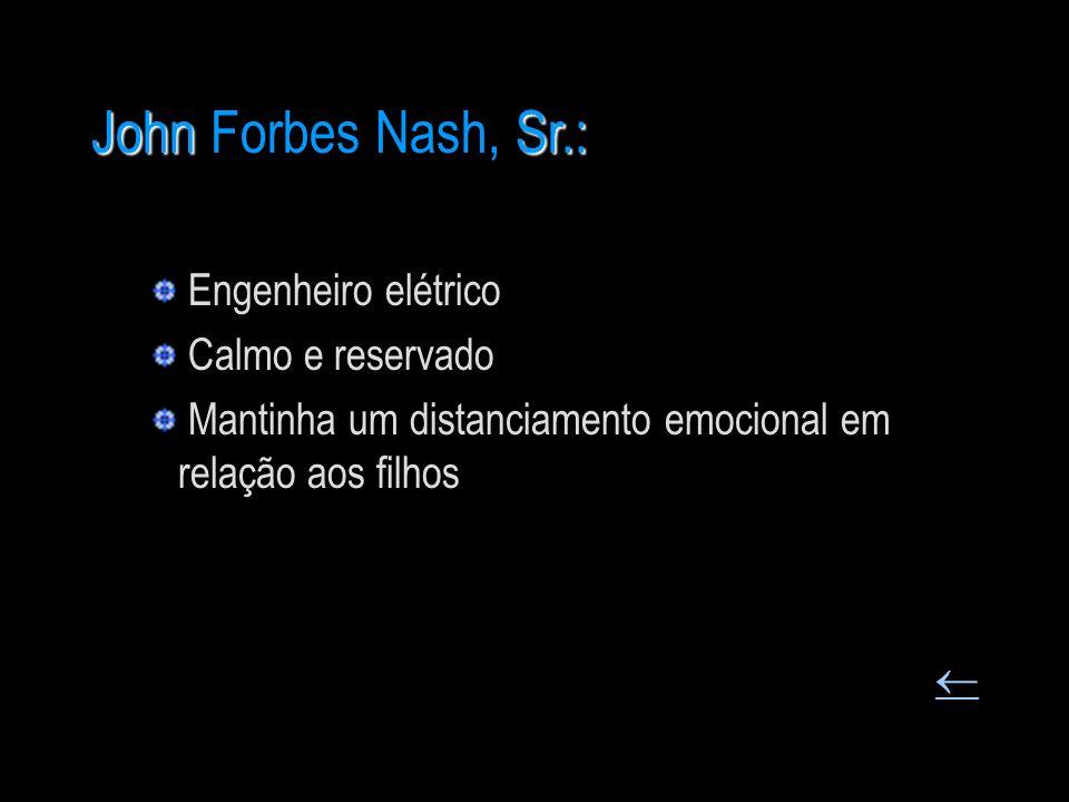 John Forbes Nash, Sr.: Engenheiro elétrico Calmo e reservado