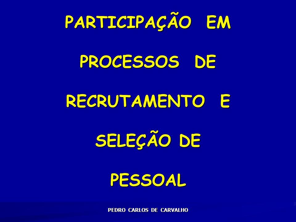 PARTICIPAÇÃO EM PROCESSOS DE RECRUTAMENTO E SELEÇÃO DE PESSOAL
