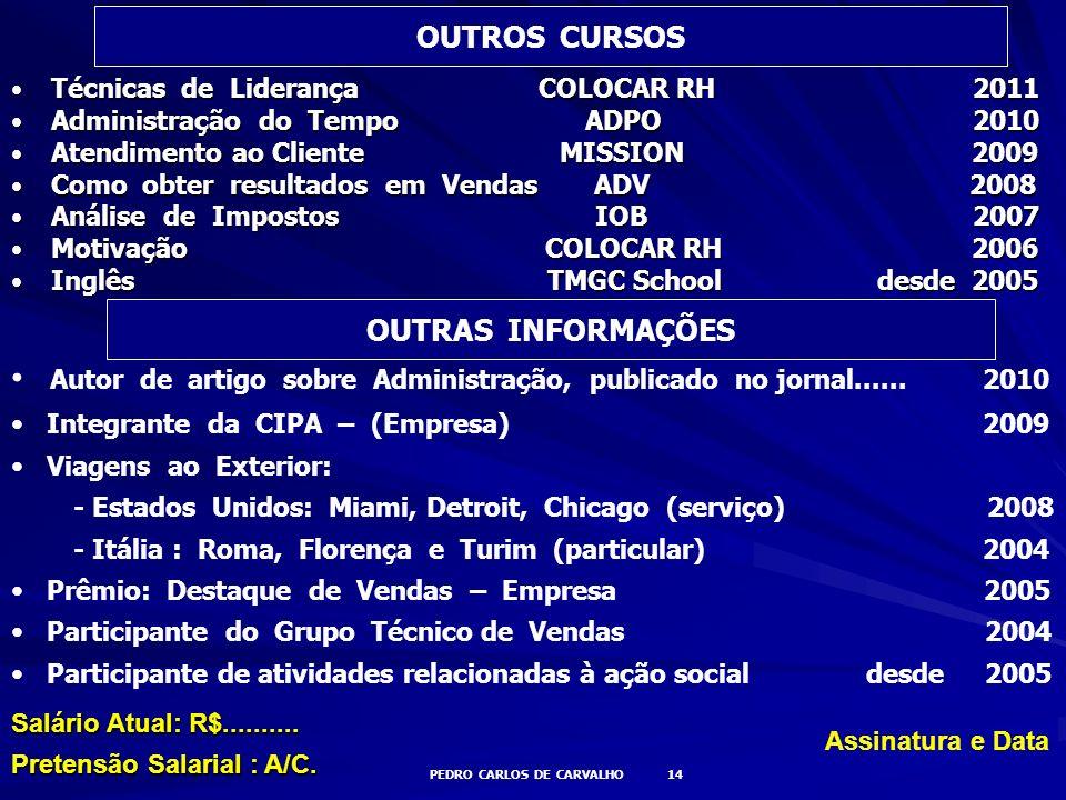PEDRO CARLOS DE CARVALHO 14