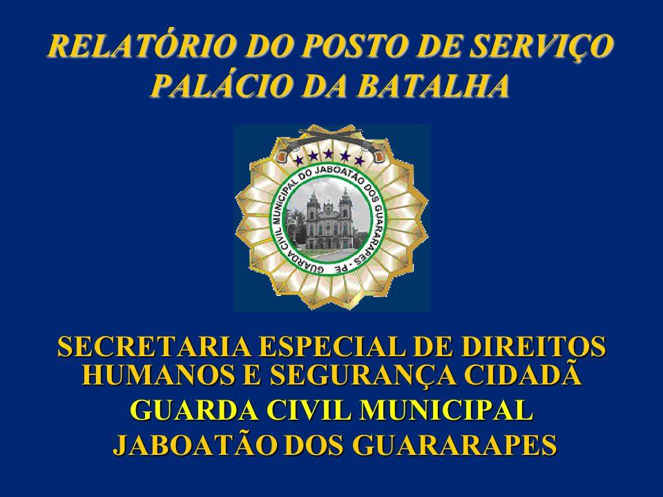 RELATÓRIO DO POSTO DE SERVIÇO PALÁCIO DA BATALHA