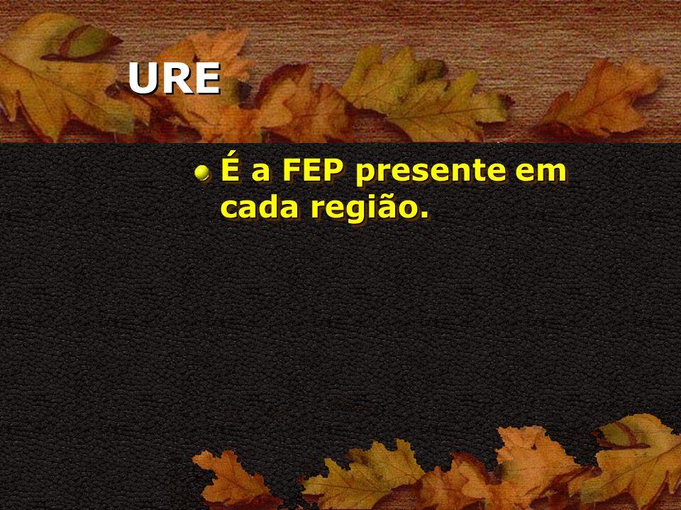 URE É a FEP presente em cada região.