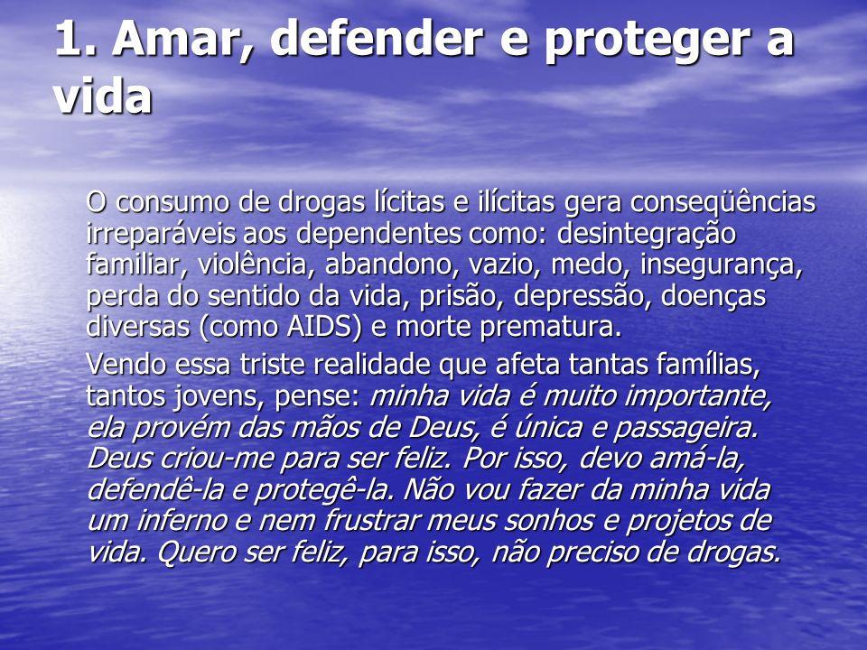 1. Amar, defender e proteger a vida