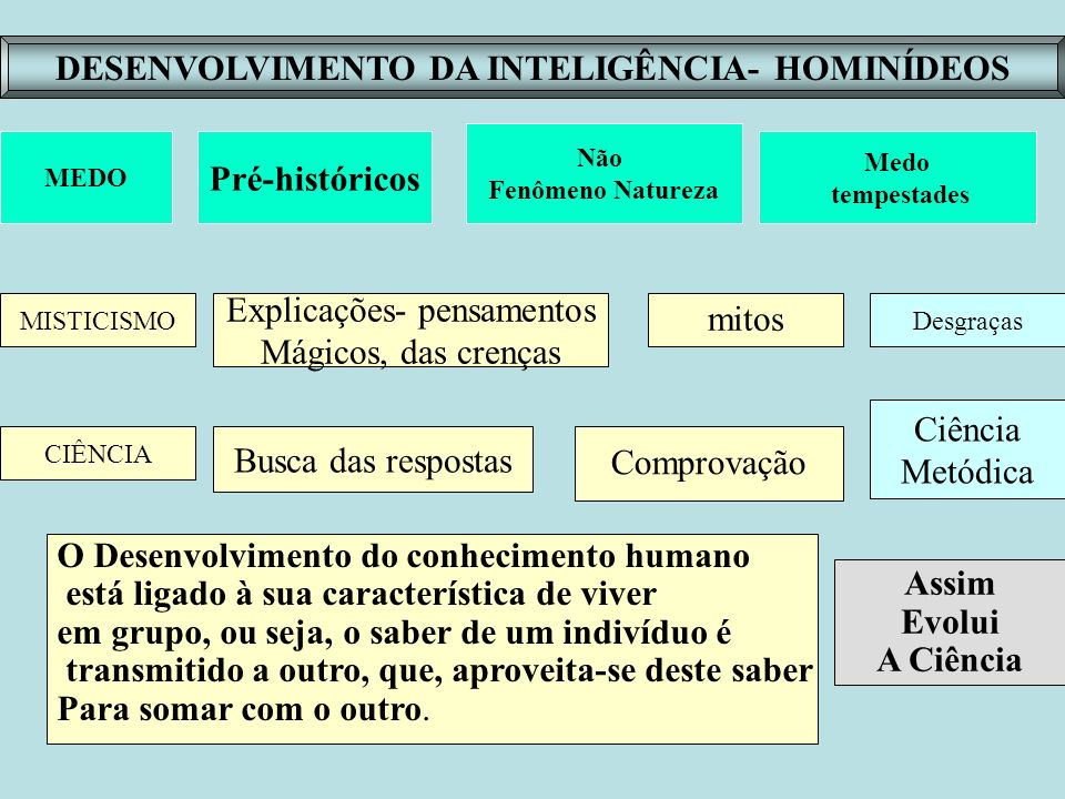 DESENVOLVIMENTO DA INTELIGÊNCIA- HOMINÍDEOS