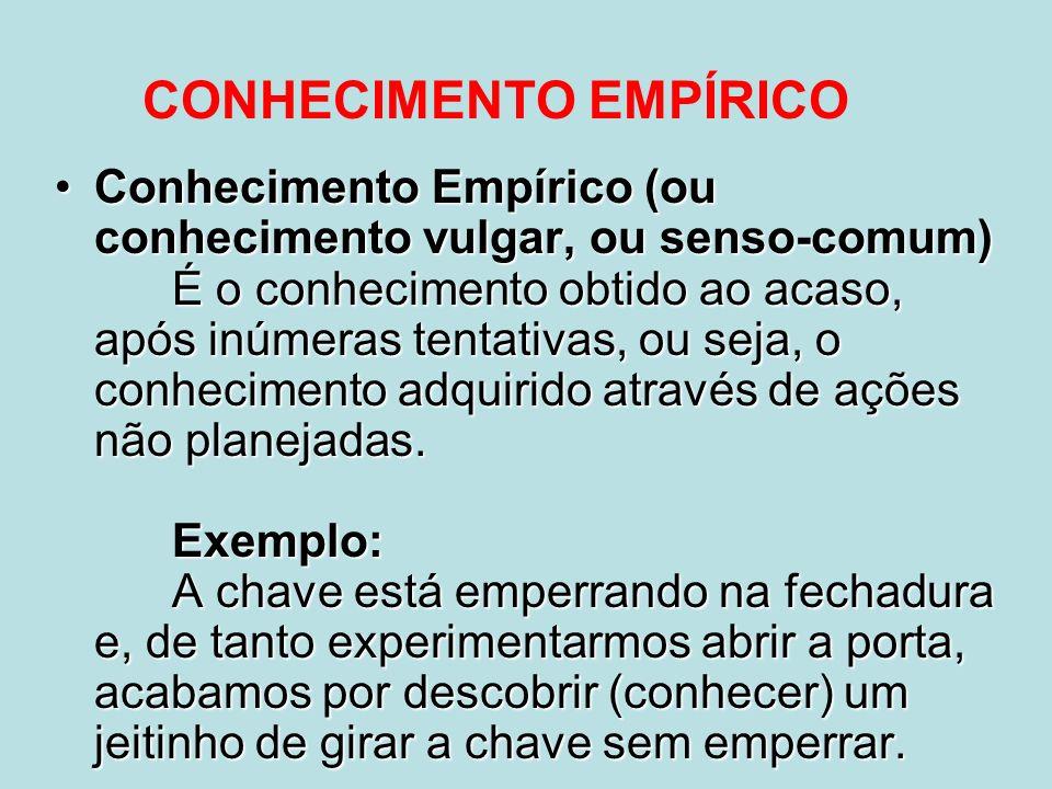 CONHECIMENTO EMPÍRICO