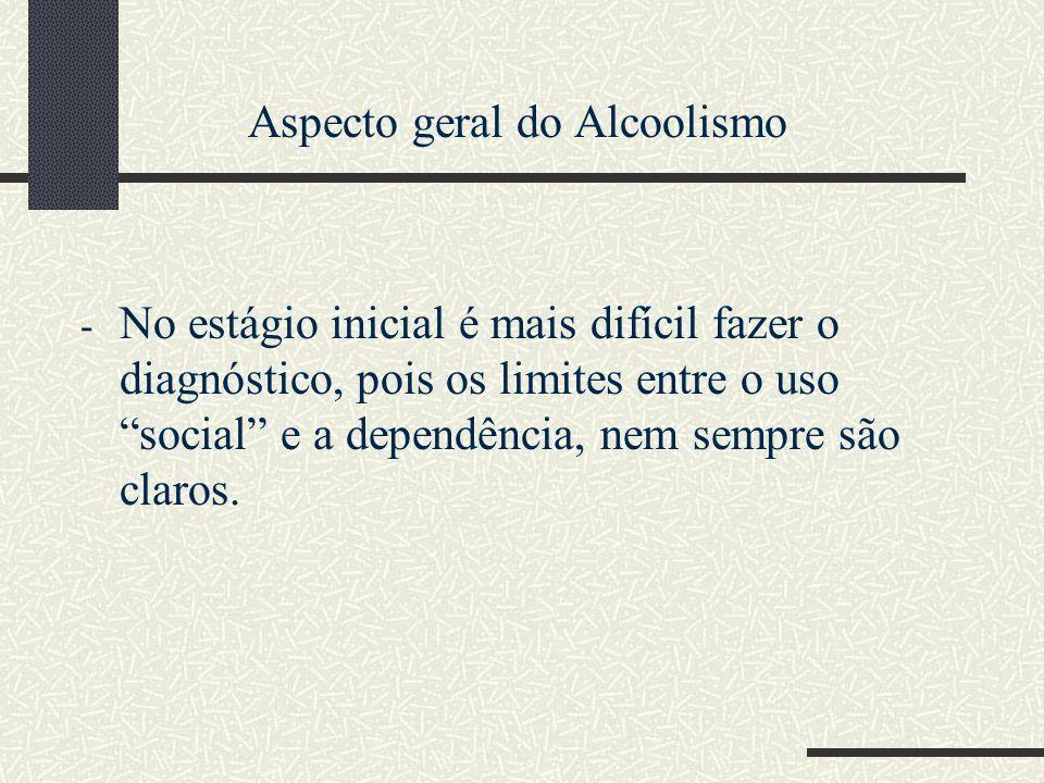 Aspecto geral do Alcoolismo