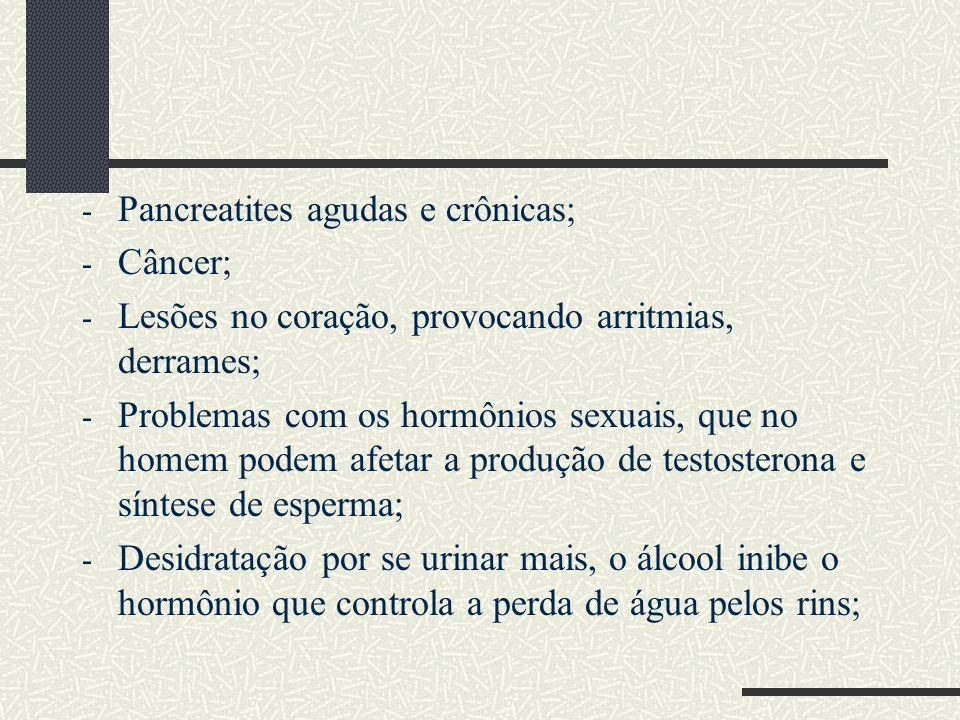 Pancreatites agudas e crônicas;