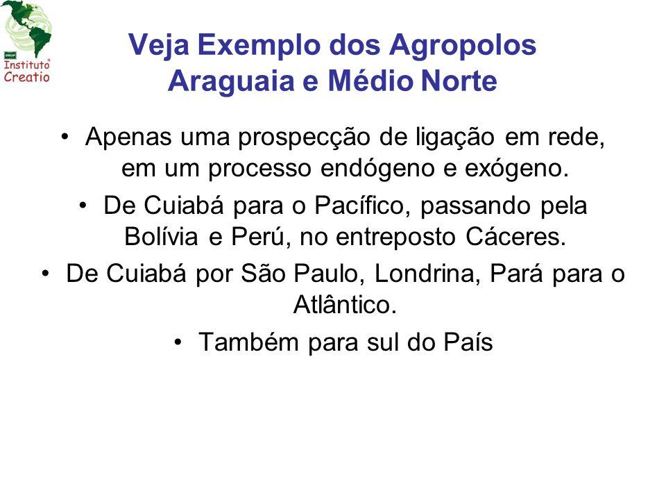 Veja Exemplo dos Agropolos Araguaia e Médio Norte