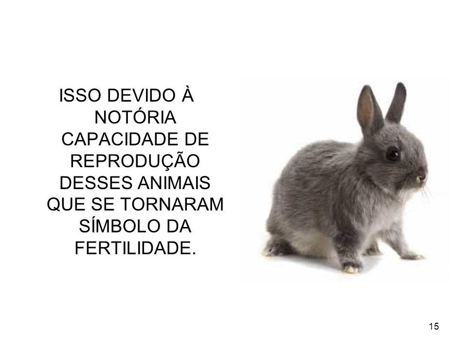 ISSO DEVIDO À NOTÓRIA CAPACIDADE DE REPRODUÇÃO DESSES ANIMAIS QUE SE TORNARAM SÍMBOLO DA FERTILIDADE.
