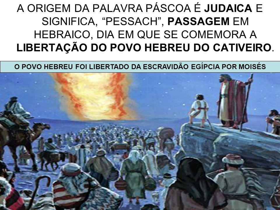 O POVO HEBREU FOI LIBERTADO DA ESCRAVIDÃO EGÍPCIA POR MOISÉS
