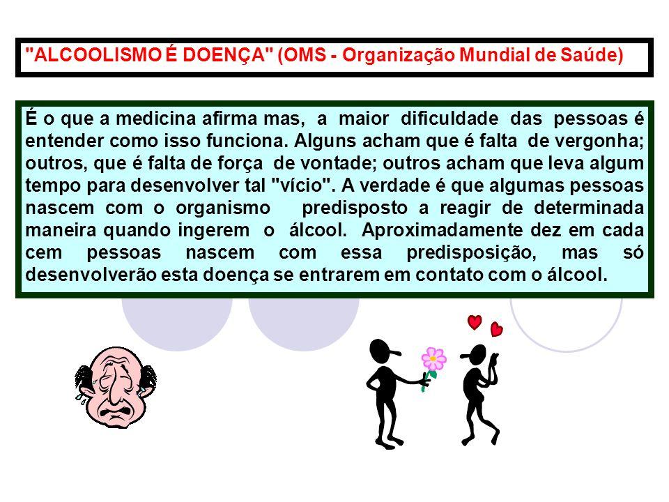 ALCOOLISMO É DOENÇA (OMS - Organização Mundial de Saúde)