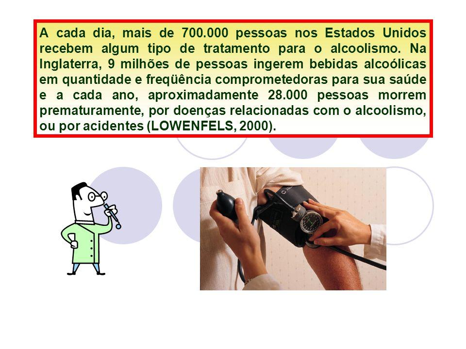 A cada dia, mais de 700.000 pessoas nos Estados Unidos recebem algum tipo de tratamento para o alcoolismo.