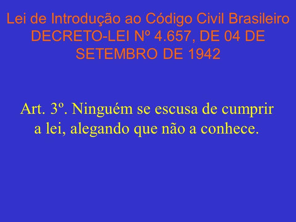 Lei de Introdução ao Código Civil Brasileiro