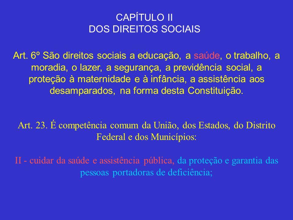 CAPÍTULO II DOS DIREITOS SOCIAIS.