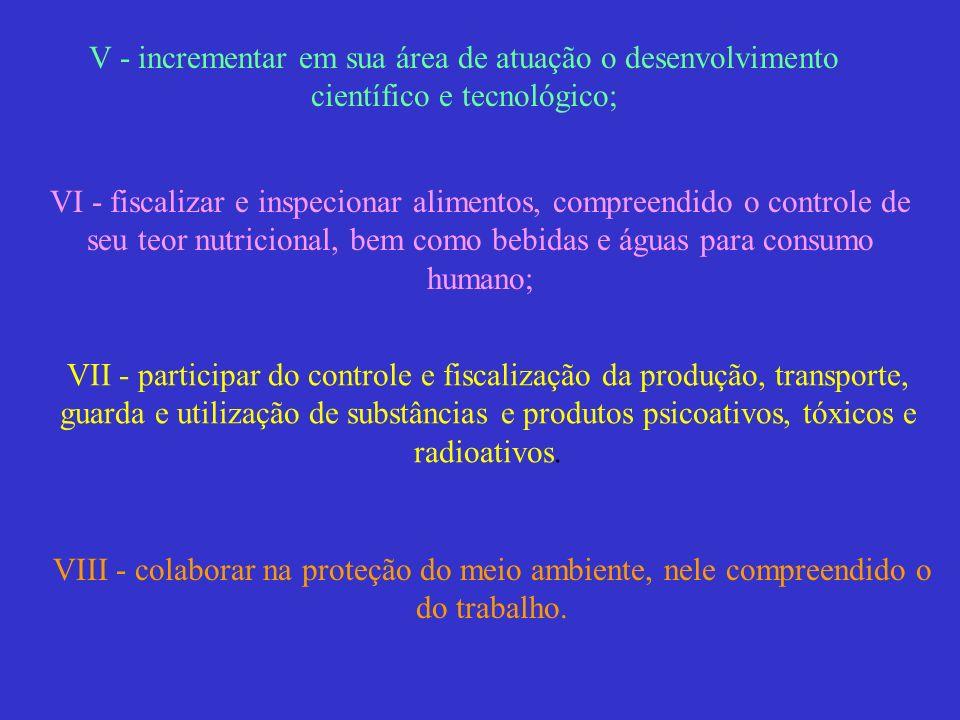 V - incrementar em sua área de atuação o desenvolvimento científico e tecnológico;
