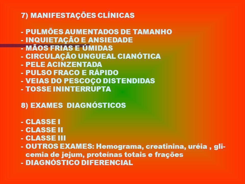 7) MANIFESTAÇÕES CLÍNICAS