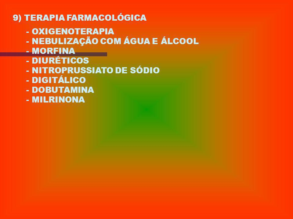 9) TERAPIA FARMACOLÓGICA
