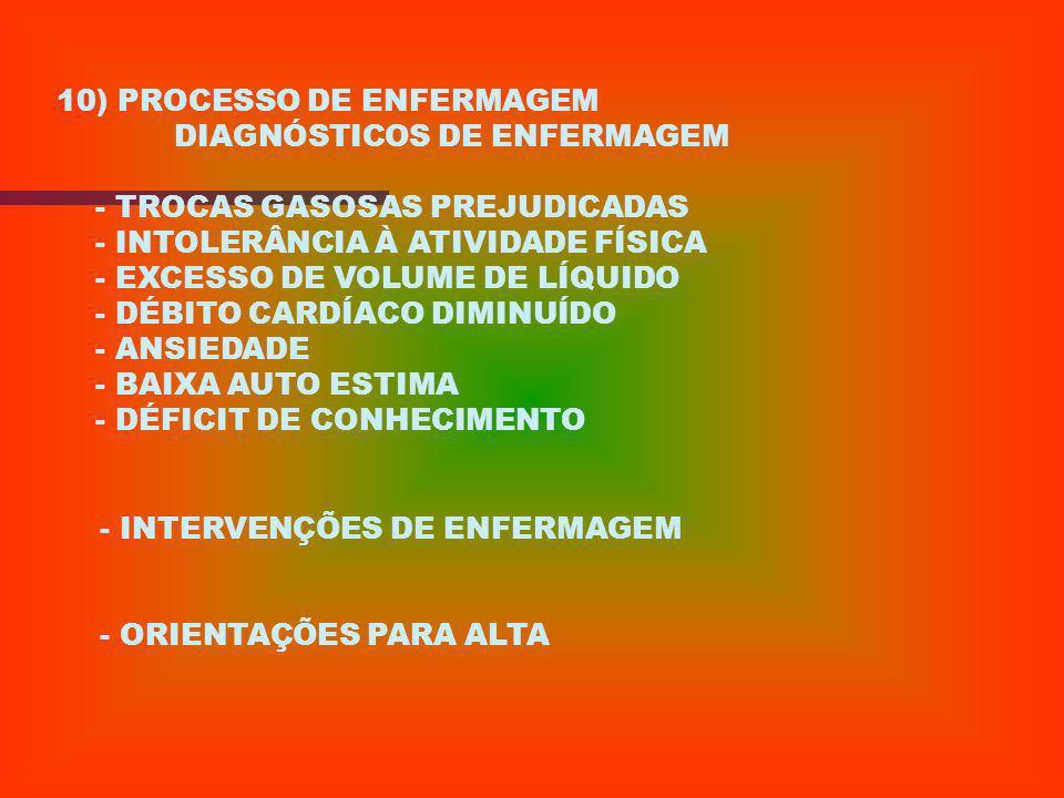 10) PROCESSO DE ENFERMAGEM