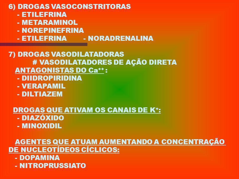 6) DROGAS VASOCONSTRITORAS