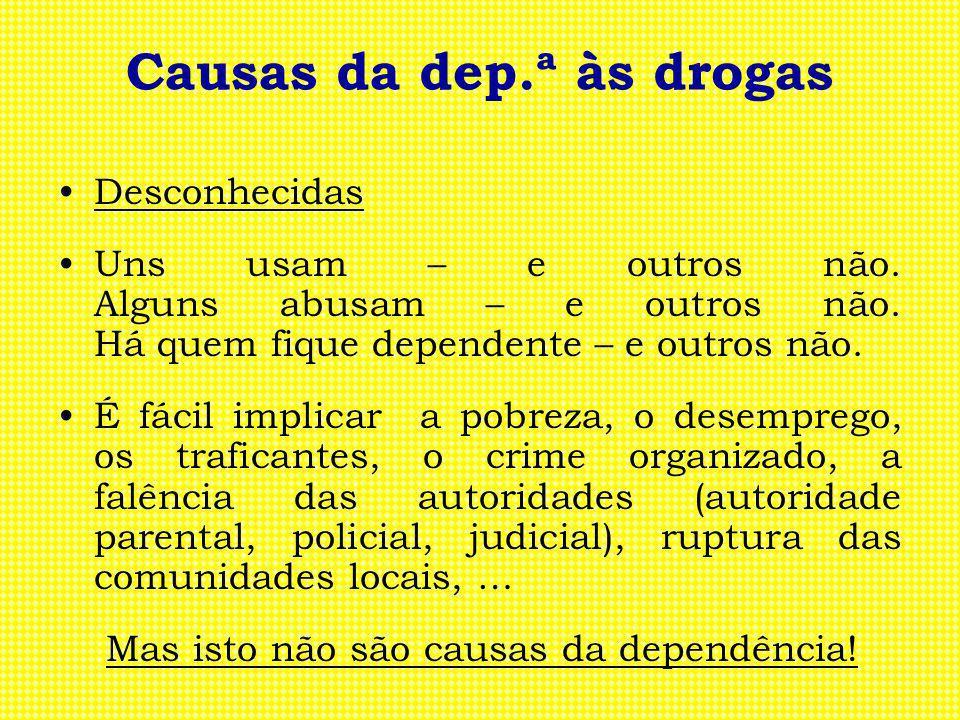 Causas da dep.ª às drogas