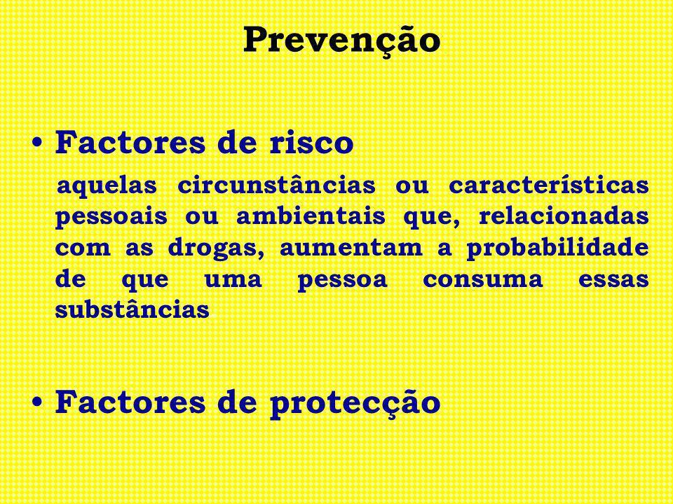 Prevenção Factores de risco Factores de protecção