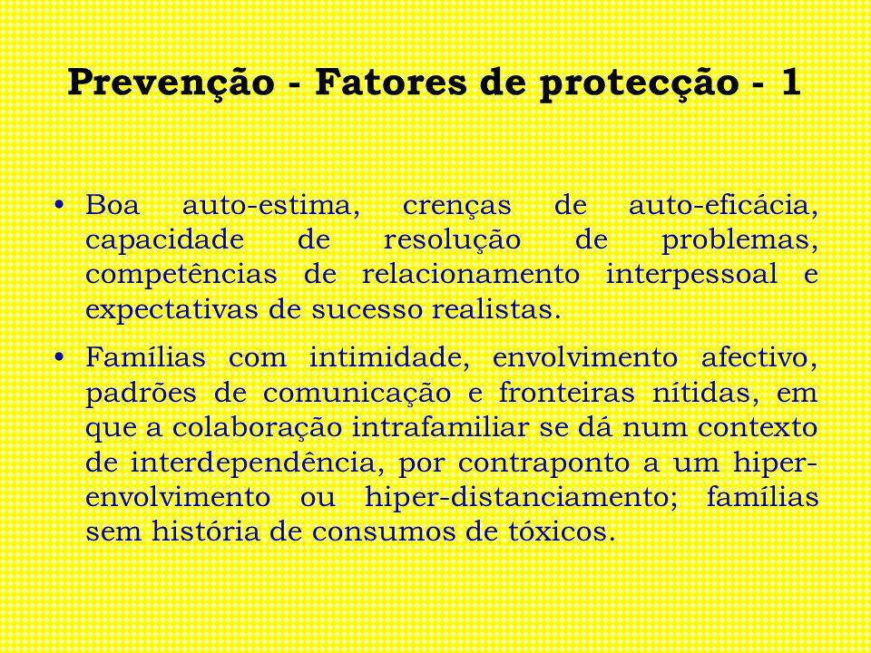Prevenção - Fatores de protecção - 1