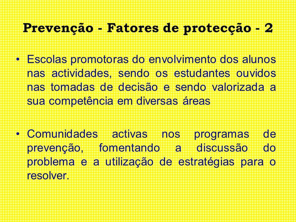 Prevenção - Fatores de protecção - 2