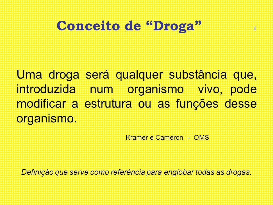 Definição que serve como referência para englobar todas as drogas.