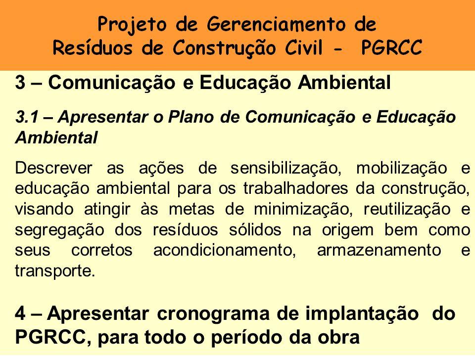 Projeto de Gerenciamento de Resíduos de Construção Civil - PGRCC
