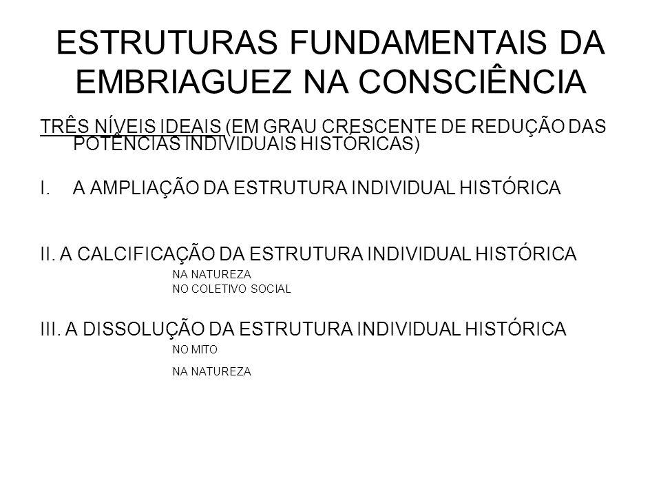 ESTRUTURAS FUNDAMENTAIS DA EMBRIAGUEZ NA CONSCIÊNCIA