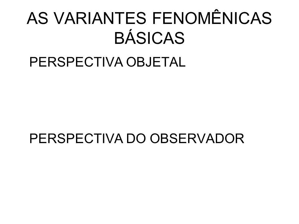 AS VARIANTES FENOMÊNICAS BÁSICAS